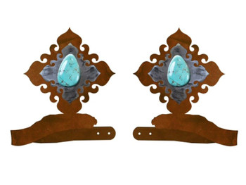 Turquoise Stone Metal Curtain Tie Backs