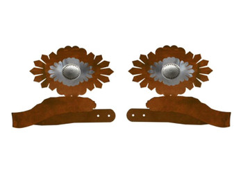 Sunburst Concho Metal Curtain Tie Backs