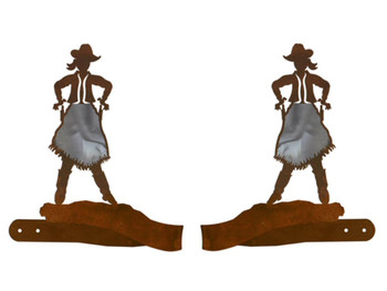 Burnished Cowgirl Metal Curtain Tie Backs