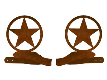 Texas Western Star Metal Curtain Tie Backs