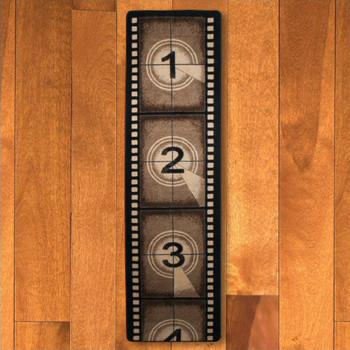 2' x 8' Movie Filmstrip Brown Rectangle Runner Rug