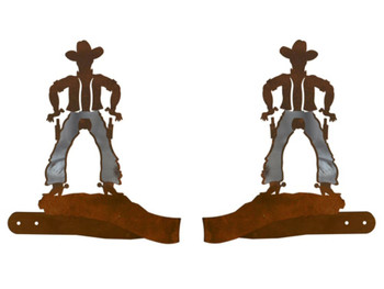 Burnished Cowboy Metal Curtain Tie Backs
