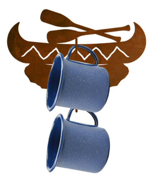 Canoe Metal Mug Holder Wall Rack