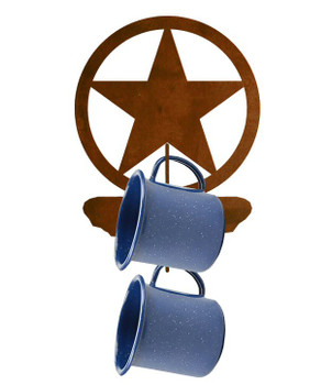 Texas Star Metal Mug Holder Wall Rack