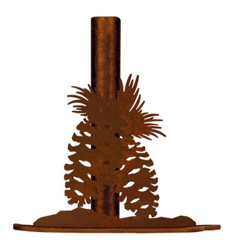 Pine Cones Metal Paper Towel Holder