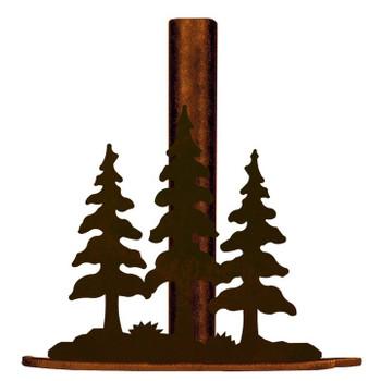 Triple Pine Trees Metal Paper Towel Holder