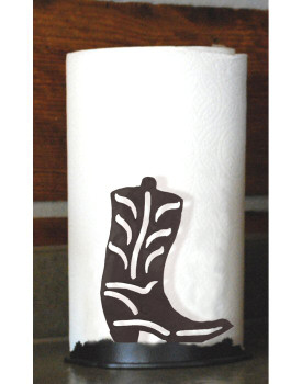 Cowboy Boot Metal Paper Towel Holder
