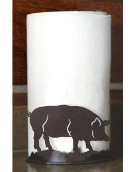 Pig Metal Paper Towel Holder