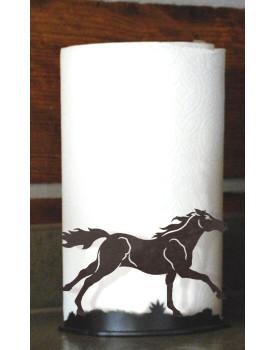 Running Horse Metal Paper Towel Holder