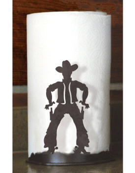 Cowboy Metal Paper Towel Holder