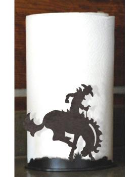 Bucking Bronco Rider Metal Paper Towel Holder
