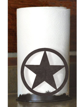 Texas Star Metal Paper Towel Holder