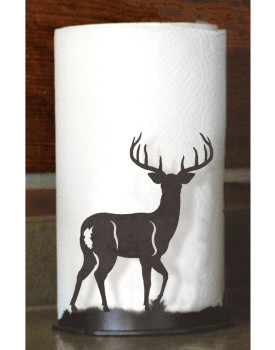 Deer Metal Paper Towel Holder