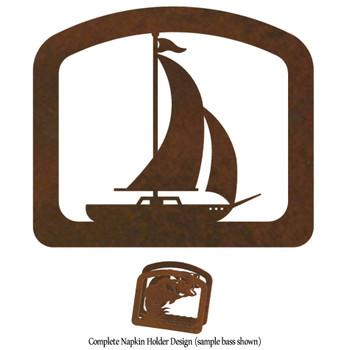 Sailboat Metal Napkin Holder