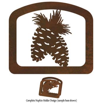 Pine Cones Metal Napkin Holder