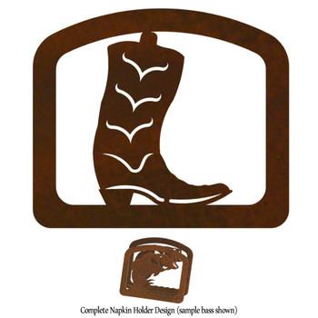 Cowboy Boot Metal Napkin Holder