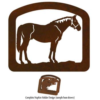 Bay Horse Metal Napkin Holder