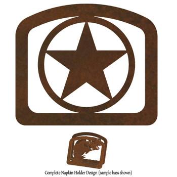 Texas Western Star Metal Napkin Holder