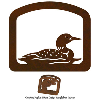 Swimming Loon Metal Napkin Holder