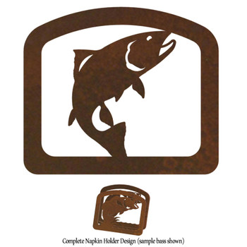 Trout Fish Metal Napkin Holder
