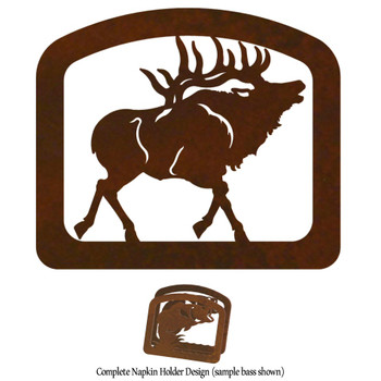 Walking Elk Metal Napkin Holder