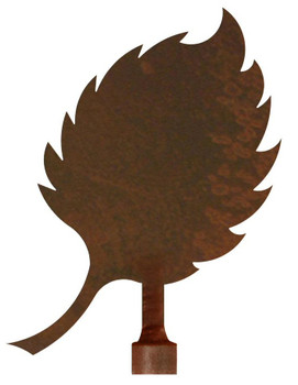 Aspen Leaf Metal Lamp Finial