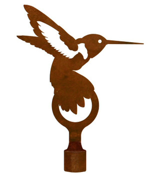 Large Hummingbird Metal Lamp Finial