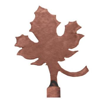 Maple Leaf Metal Lamp Finial
