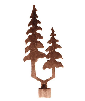 Pine Trees Metal Lamp Finial