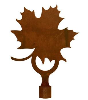 Large Maple Leaf Metal Lamp Finial