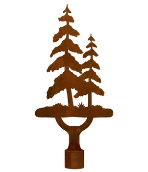 Large Pine Tree Metal Lamp Finial