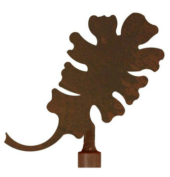 Oak Leaf Metal Lamp Finial