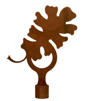 Large Oak Leaf Metal Lamp Finial