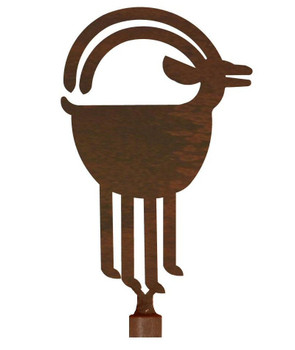 Ram Goat Metal Lamp Finial
