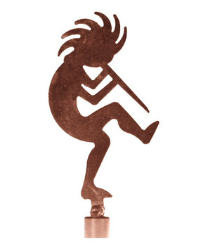 Kokopelli Metal Lamp Finial