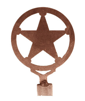 Texas Star Metal Lamp Finial