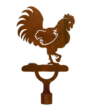 Large Rooster Bird Metal Lamp Finial