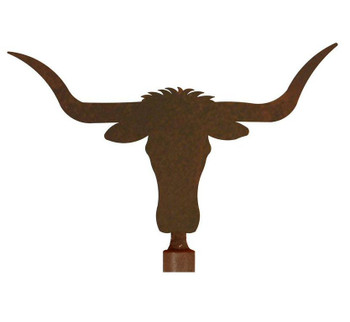 Longhorn Steer Metal Lamp Finial