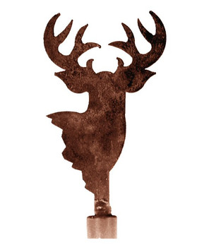 Deer Metal Lamp Finial