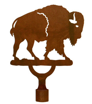 Large Buffalo Metal Lamp Finial
