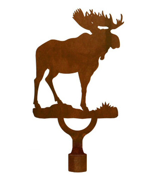 Large Moose Metal Lamp Finial