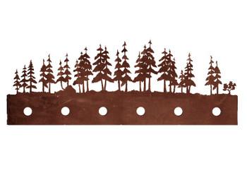 Pine Tree Forest Six Light Metal Vanity Light