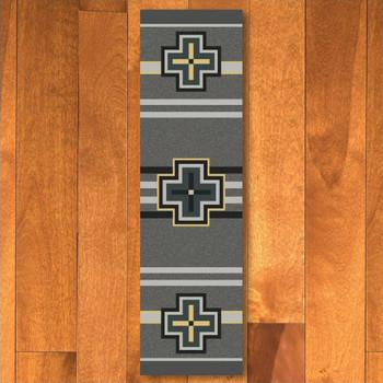 2' x 8' Bounty Gray Southwest Rectangle Runner Rug