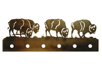 Buffalo Six Light Metal Vanity Light