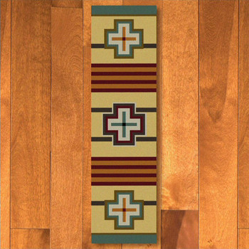 2' x 8' Bounty Maize Southwest Rectangle Runner Rug