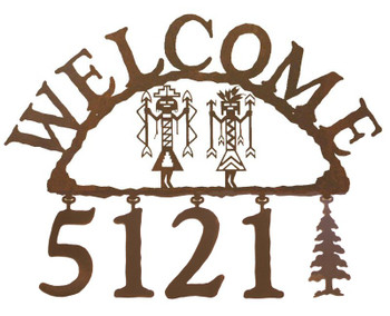 Yei Metal Address Welcome Sign