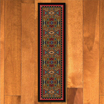 2' x 8' Four Rams Bright Southwest Rectangle Runner Rug