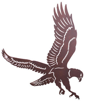 "30"" Flying Eagle Metal Wall Art"