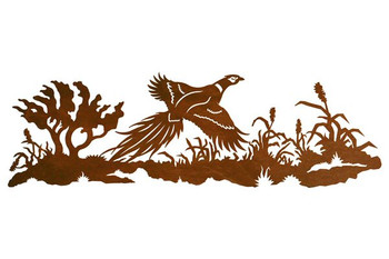 "42"" Flying Pheasant Scenic Metal Wall Art"