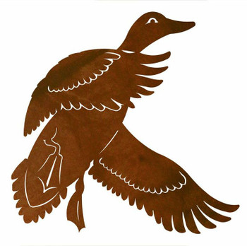 "30"" Flying Duck Metal Wall Art"